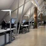 Kombination allgemein Beleuchtung in individuelle Arbeitsplatzbeleuchtung
